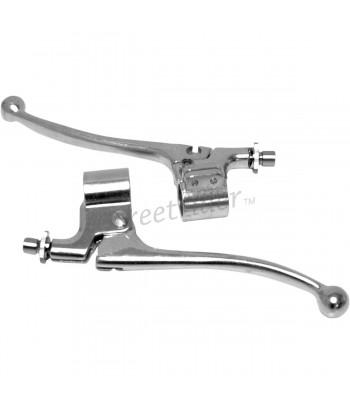 CONTROLS brake and clutch LEVERS KIT VINTAGE STYLE HANDLEBAR 22 mm AMAL. BIKE