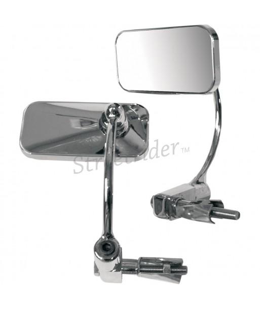 Specchio tondo 75 mm cromato universale moto custom vintage cafè racer