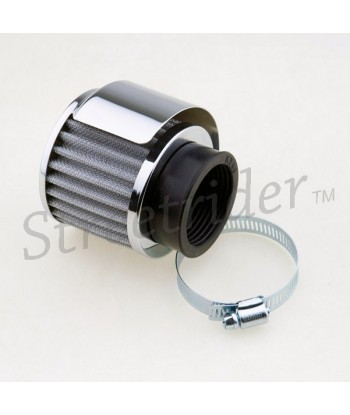 CHROME AIR FILTER CLAMP ON 35 MM. CAFE RACER MOTORCYCLE