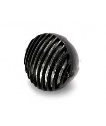 "WRINKLE BLACK HEADLIGHT PRISON 4.7"" 120 MM FOR CAFE RACER MOTORCYCLE"