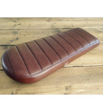 BROWN SEAT LEATHER VINTAGE BRAT STYLE 41 LONG UNIVERSAL MOTORCYCLE CAFE RACER