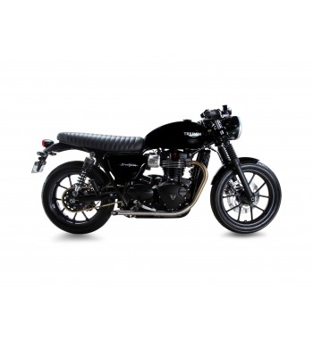 Black Seat Leather With Gel Tuck N Roll For Triumph Bonneville