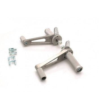 PAIR OF UNIVERSAL ALUMINIUM BRUSHED REAR SETS FOR MOTORCYCLE CAFE RACER