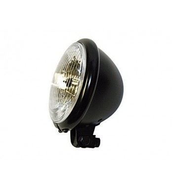 """HEADLIGHT BLACK BATES STYLE EU APPROVED5.75"""" 155 MM FOR CAFE RACER MOTORCYCLE"""