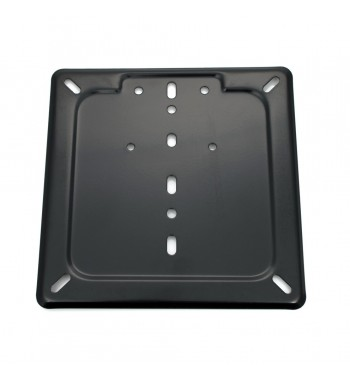 BASE LICENSE PLATE BLACK STAINLESS STEEL HOLDER FOR MOTORCYCLE