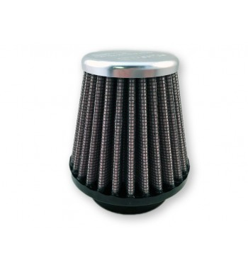 CHROME CONICAL AIR FILTER CLAMP ON DNA 44 MM. CAFE RACER MOTORCYCLE