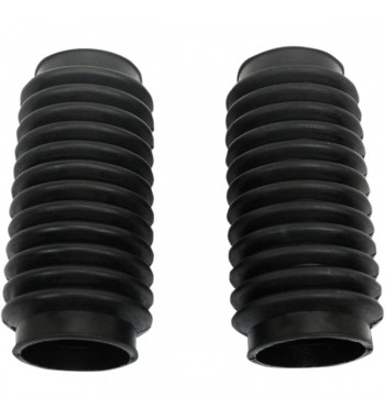 UNIVERSAL MOTORCYCLE BOOTS BLACK FORK TUBE COVER 12T 50-55 MM CAFE RACER
