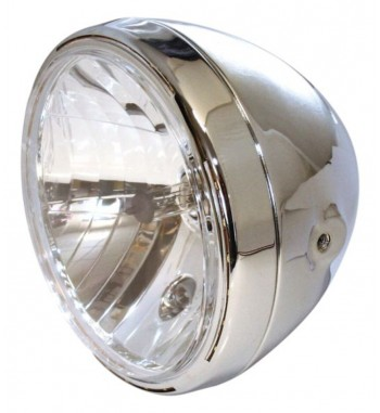 "HEADLIGHT EU APPROVED 7"" 190 MM RENO 2 FOR CAFE RACER MOTORCYCLE"