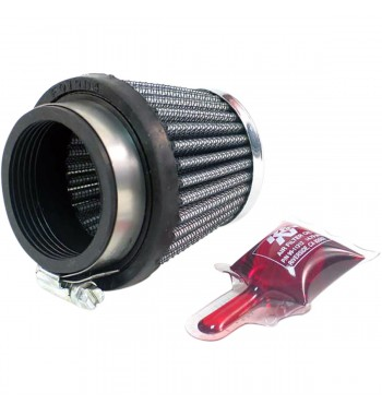 CONICAL AIR FILTER CLAMP ON K&N 49 MM CAFE RACER MOTORCYCLE