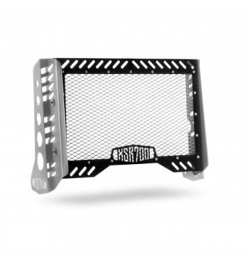 RADIATOR GUARD SILVER/BLACK CAFE RACER FOR YAMAHA XSR 700