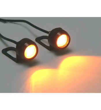 BUILT-IN CREE LED TURN SIGNALS BLACK FOR CAFE RACER SCRAMBLER MOTORCYCLE