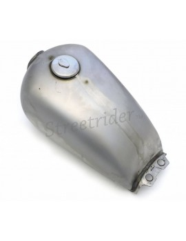 UNIVERSAL FUEL TANK STEEL CLASSIC SUZUKI 9 LT WITH ACCESSORIES FOR CAFE RACER MOTORCYCLE