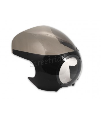 UNIVERSAL MOTORCYCLE WINDSHIELD FAIRING BLACK VINTAGE CAFE RACER