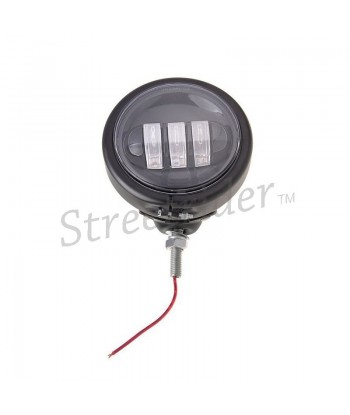 UNIVERSAL LED SPOTLIGHT EU APPROVED 120 MM BLACK FOR CAFE RACER MOTORCYCLE