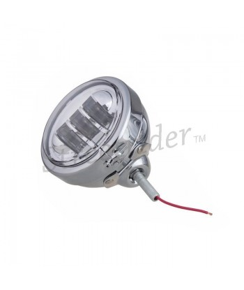 CHROME UNIVERSAL LED SPOTLIGHT EU APPROVED 120 MM FOR CAFE RACER MOTORCYCLE