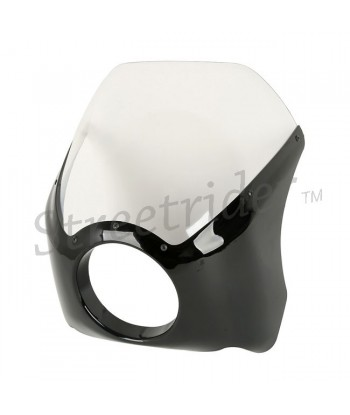 UPOLINO FAIRING UNIVERSALE VINTAGE STYLE 3 NERO/TRASP PER MOTO CAFE RACER