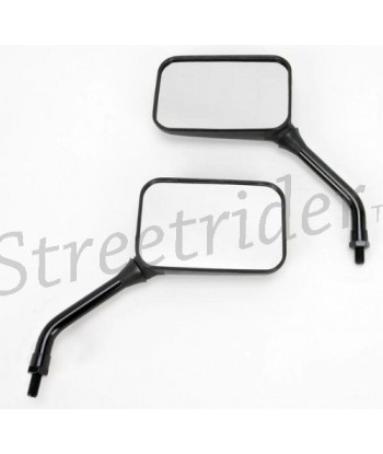 BLACK SHORT STEM MIRRORS DELUXE GP FOR YAMAHA MOTORCYCLE