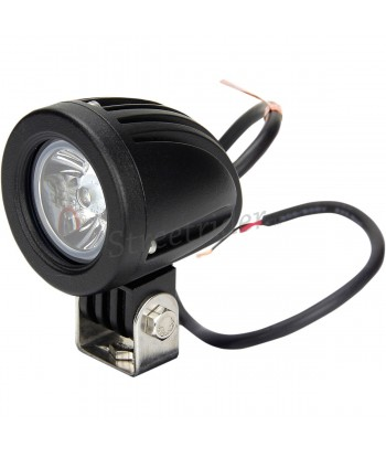 "AUXILIARY BLACK CIRCULAR ALUMINIUM SPOTLIGHT 2 LIGHTHOUSE ""-10 WATT LED"