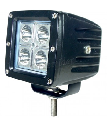 "AUXILIARY ALUMINIUM SPOTLIGHT BLACK SQUARE LIGHTHOUSE 4 ""-16 WATT LED"