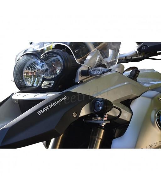 "AUXILIARY ALUMINIUM KIT 2 BLACK CIRCULAR SPOT LIGHTS HEADLIGHTS ""-10 WATT LED"